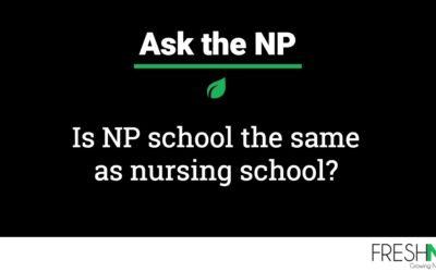 Is NP school the same as nursing school?